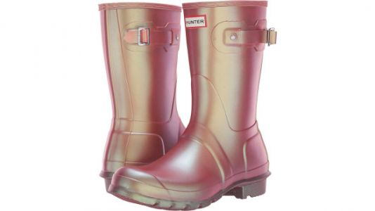 Spring Is Here And You Need These Pink, Shiny Rain Boots