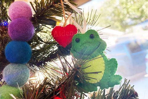My Christmas Tree Is Covered In Frogs