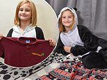 Girl, nine, is forced to wear a panda onesie to school after developing an allergy to her uniform