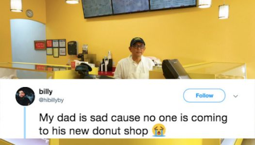 When No One Came, Son Rallies Customers For Dad's New Donut Shop