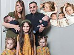 """""""Super fertile"""" Mother-of-five and gives birth naturally to TWO sets of twins in a row"""