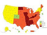 Obesity map reveals more than 35 percent of people in nine US states are dangerously overweight