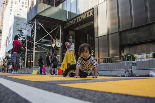 NYC Shuts Down Part Of 5th Ave To Paint BLM Mural In Front Of Trump Tower
