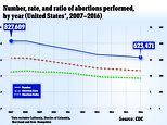 US abortion hits record low since Roe v Wade: Rates fell 24% in 10 years, CDC report reveals