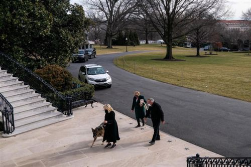 Champ & Major Biden Have Arrived At The White House