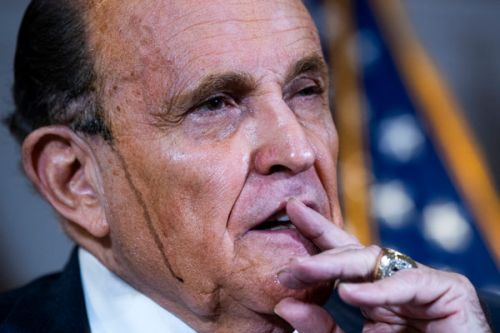 Rudy Giuliani's Hair Dye Was Leaking All Over His Face At His Latest Batsh*t Press Conference