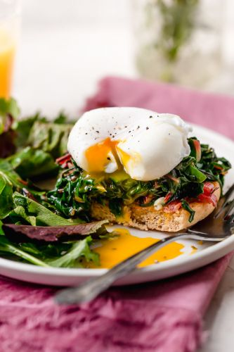 Swiss Chard Eggs Benedict