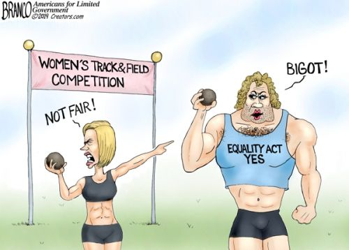 """More proof that the LGBT mafia is destroying women's sports in the name of """"tolerance:"""" another biological man competes in female competition to ensure an easy """"victory"""""""