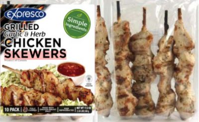 More than 10 tons of chicken kabobs recalled for Listeria