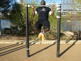 Fat Burning Pullups, Bench Presses, Dumbbell Rows and Step Ups