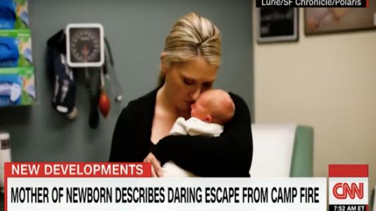 Mom Escaping Wildfire Tells Stranger To Take Her Baby - And Leave Her Behind
