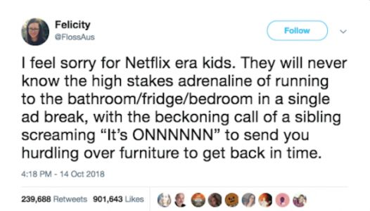 Hilarious Twitter Thread Explains Why People Feel Sorry For 'Netflix Era' Kids