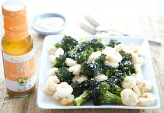 One Sheet-Pan Shrimp and Broccoli with PRIMAL KITCHEN® Sesame Ginger Vinaigrette and Marinade
