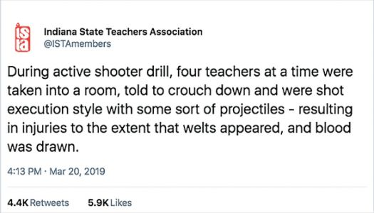 Teachers Shot 'Execution Style' With Plastic Bullets In Active Shooter Drill