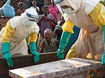 Heartbreaking images show masked aid workers carrying coffins of babies who died of Ebola