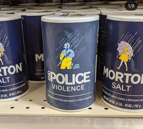 Designer Replaces Grocery Labels With Facts About Police Issues