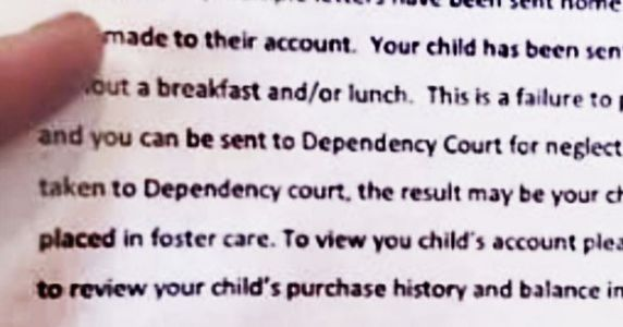Parents Warned Their Kids Could Be Put In Foster Care Over Lunch Debt