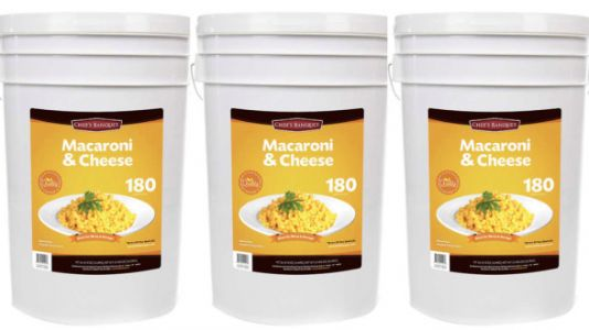 Costco's Selling A 27-Pound Bucket Of Macaroni And Cheese