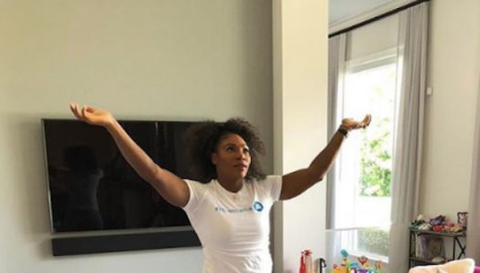 Serena Williams Is Every Mom Wondering Where Her Living Room Went