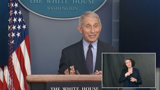 Smiling Fauci Talks Variants, Vaccines at White House Briefing