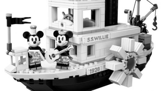 An All Black-And-White 'Steamboat Willie' LEGO Set Is Coming
