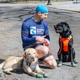 A Relay Team of Service Dogs Will Guide This Blind Athlete Through the United NYC Half