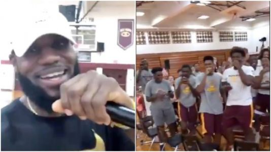 LeBron James Surprises High School Students With New Gear And Locker Rooms