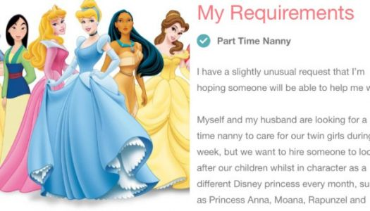 This Bonkers Nanny Ad Asks Candidate To Work In Character As A Disney Princess