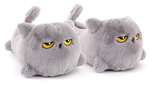 These 'Over It' Cat Heated Slippers Are A MOOD