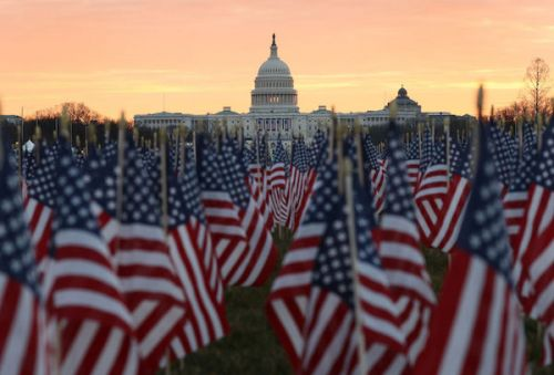 'Field Of Flags' Display Lights Up National Mall For Biden Inauguration