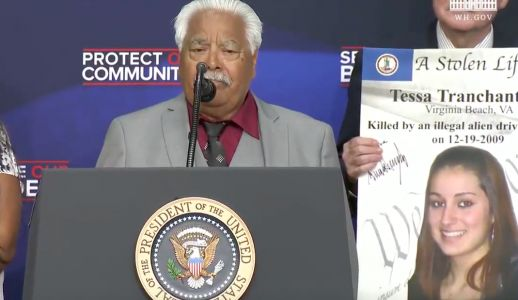 Trump Autographed Photos Of Murder Victims At Anti-Immigration Event