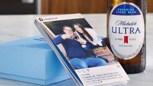 Michelob Ultra Will Turn Your IG Love Into A Gift This Father's Day