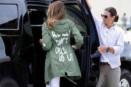 Melania Wears 'I Really Don't Care' Jacket On Trip To Visit Detained Migrant Kids