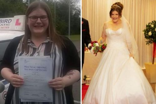 This woman lost more than 8st in just 18 months in time for her wedding