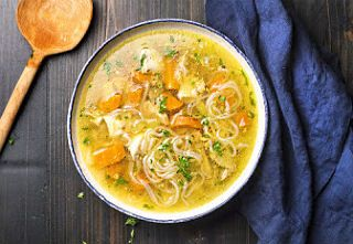 "Instant Pot Chicken ""Noodle"" Soup"