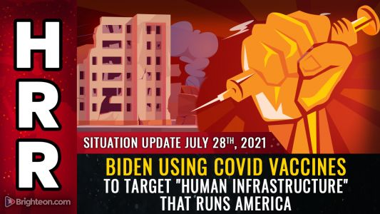 """Biden's WAR on America: Target the nation's """"human infrastructure"""" with mandatory, deadly gene therapy injections to mass murder all those who keep the country running"""