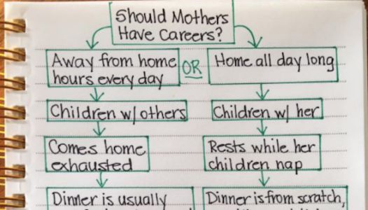 Chart Comparing Working Moms And SAHMs Goes Viral Because It's Bonkers