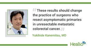 Surgery before chemotherapy does not extend OS for certain patients with colorectal cancer