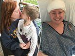 Single mother, 28, feared she'd be left paralyzed by a brain tumor