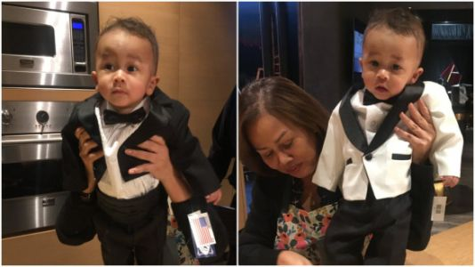 Internet Loses It Over Chrissy Teigen's 'Mini-John' In A Tux
