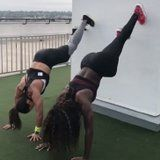 This Full-Body Wall Workout Is the Perfect Challenge For You and a Fitness Buddy