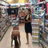A CrossFit Athlete Proves That Handstands and Grocery Shopping Make a Great Pair