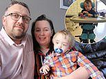 One of Britain's youngest stroke victims at just 19 months 'stands up' for the first time