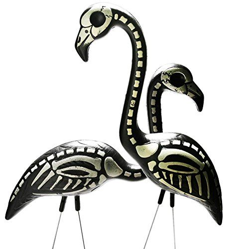 Skeleton Flamingos For Your Lawn Exist On Amazon To Scare The Flock Out Of Your Neighbors