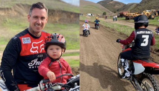 Carey Hart And Pink Posted Pics Of The Whole Fam On Dirt Bikes And DGAF What You Think
