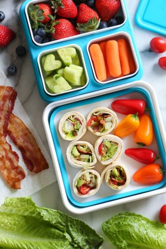 BLT Roll Ups with Turkey and Avocado
