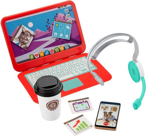 Fisher-Price Is Selling A WFH Set For Kids Complete With Spreadsheets And Coffee