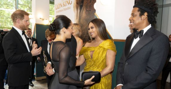 Meghan Markle is All Of Us Meeting Beyoncé At 'The Lion King' Premiere