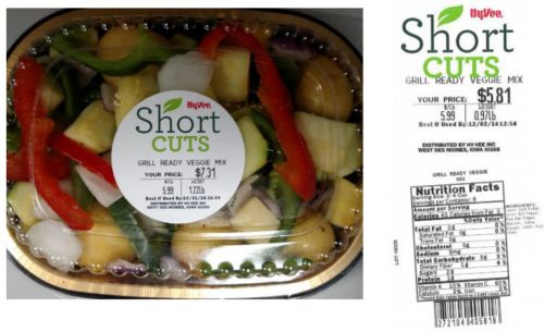 Routine testing spurs recall of pre-cut fresh vegetables in multiple states