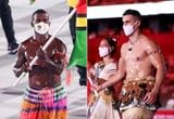 I'm Pretty Sure These Shirtless Olympic Flag Bearers Caused a Body Oil Shortage in Tokyo